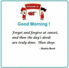 Ruskin Bond, My Website, Forgiveness, Day