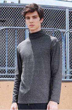 Pioneer Camp Turtleneck T-shirt men brand-clothing solid long sleeve high collar T shirt male quality autumn Tshirt  #fashion #style #shopping #mensfashion  #mensstyle #menswear #hoodie #sweatshirt #tshirt  #jacket #jeans