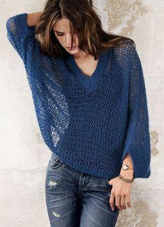 Women's Hand Knit Boatneck Sweater – Hand Knitting Crochet Blouse, Knit Dress, Knit Crochet, Knitting Blogs, Baby Knitting, Hand Knitted Sweaters, Knitted Hats, Crochet Clothes, Clothes For Women