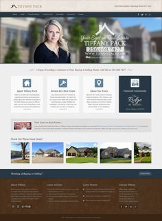 Tiffany Pack | Realtor custom #responsive #webdesign on #Joomla 3 CMS using #Bootstrap framework. #MLS #realestate #realtor #realty #inspiration #homes #alabama