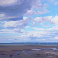 An artist in Troon, Ayrshire, Scotland. Paints landscapes and seascapes, from woodlands to shorelines. Interested in the influence of the sky, and its changing mood and atmosphere. Thumbnail gallery of his paintings. Art Basics, Landscape Paintings, Landscapes, Sky And Clouds, Beach Scenes, Surfers, Scotland, Art Projects, Contemporary Art
