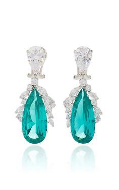 Paraiba tourmaline and Diamond earrings by Anabela Chan