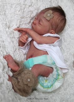 BCN ~ Baby reborn doll ~ Preemie baby girl Mavie / E. Wosnjuk #New
