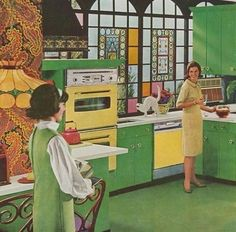 home epoca Luxury Home Decoration Ideas - Vintage Room, Vintage Home Decor, Vintage Kitchen, Retro Vintage, 1960s Kitchen, Retro Chic, Vintage Green, Vintage Interior Design, Vintage Interiors