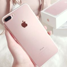 Rose gold iphone 7 plus Telephone Iphone, Rose Gold Aesthetic, Tout Rose, Accessoires Iphone, All Iphones, Camera Reviews, Tablets, Coque Iphone, New Phones