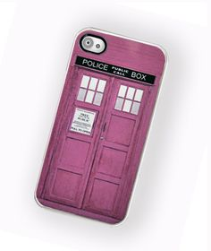 iPhone Case Sci Fi British Police Box PINK / Hard Case For iPhone 4 and iPhone 4S Girls love Sci Fi Too. $17.99, via Etsy.