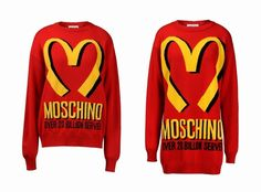 Moschino 2014 AW Collection  by Jeremy Scott:McDonalds Inspired Knitwear