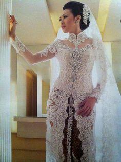 Kebaya Lace, Kebaya Dress, Kebaya Brokat, Kebaya Simple, Indonesian Wedding, Indonesian Kebaya, Modern Kebaya, Kebaya Wedding, Kebaya Muslim
