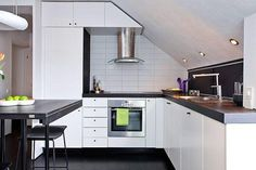 Apartment Design, What Is Interior Design And Kitchen Design And White Wardrobe Idea As Silver Blower As White Walls Scandinavian Apartment . Attic Design, Loft Design, Küchen Design, Interior Design, Design Ideas, Attic Renovation, Attic Remodel, Attic Apartment, Apartment Design