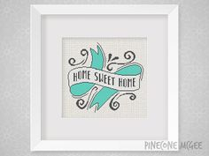 HOME SWEET HOME counted cross stitch pattern by PineconeMcGee