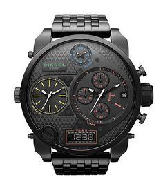 Love. Diesel Black Multifunction Bracelet Watch