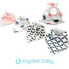 Kaydee Baby Tulips bandana bib collection for girls