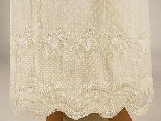 Dress Date: ca. 1814 Culture: French Medium: cotton, silk