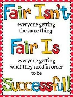 We teach kidlets to be fair, but we must remember to be fair ourselves.