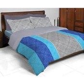 Double Bedsheets,Bombay Dyeing,Bombay Dyeing Coral Vine Double Bed Sheet, CERULEAN BLUE