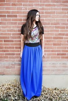 Individual Rivalry: IT'S HERE!!!! DIY MAXI SKIRT TUTORIAL!  http://individualrivalry.blogspot.com/2012/04/its-here-diy-maxi-skirt-tutorial.html