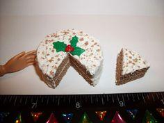 1:6 Dollhouse Miniature Handcrafted Gingerbread Dessert Cake Barbie Doll Food #SweetPeaToysMiniatures