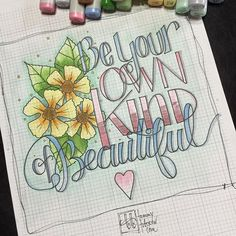 Quite possibly my most favorite lettering/coloring practice ever. Daily practice…