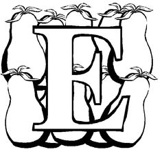 E For Eggplant Coloring Pages