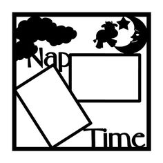 Nap Time Scrapbooking Die Cut Overlay