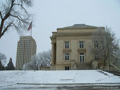 State Capitol During Winter in Bismarck