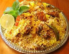 Chicken biryani... another food introduced by a Chaldean family I knew in Michigan and to die for delicious.