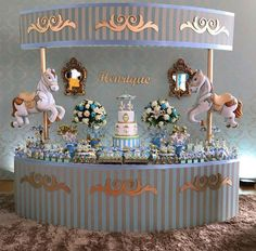 Loving this masculine twist on a carousel themed party
