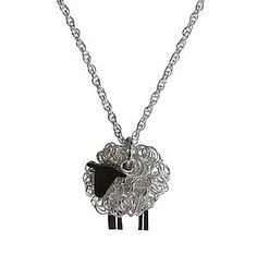 Silver Sheep Pendant And Chain Facing Left