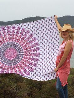 Hippy chic beach mandala blanket by AUROBELLE on Etsy