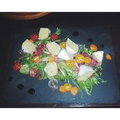 omg! beautiful salad with cheese