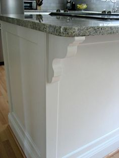 updating your island peninsula with trim and corbels diy board and batten kitchen island   batten empty wall and empty  rh   pinterest com