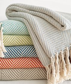 Brahms Mount Herringbone Throw for added texture and warmth in Living Room. Textiles, Cotton Throws, Home Decor Inspiration, Nursery Inspiration, My Dream Home, Home Accents, Home Accessories, Home Goods, Sweet Home