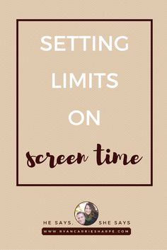 Setting Limits on Screen Time | Do you struggle with figuring out how to set limits on your kids' screen time? Click to read 3 points about how to establish healthy limits in your family!