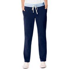Hanes Women's Rainbow French Terry Pocket Pant, Size: Medium, Blue