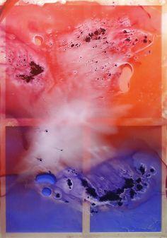 Colores fronterizos II. Técnica mixta sobre metacrilato y bastidor de madera.  200 x 140 cm.