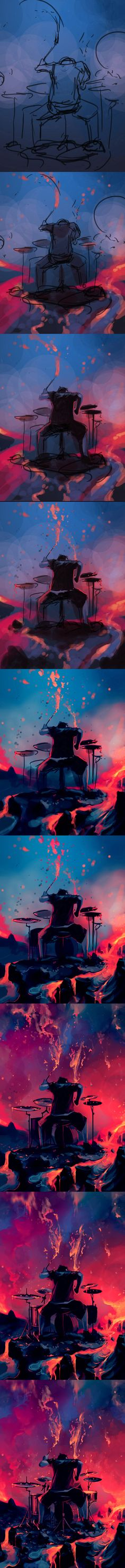 WIP Drums and rage by AquaSixio.deviantart.com on @deviantART