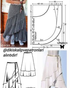 Fashion Sewing, Diy Fashion, Fashion Tips, Fashion Ideas, Skirt Patterns Sewing, Clothing Patterns, Diy Clothing, Sewing Clothes, Long Skirt Outfits