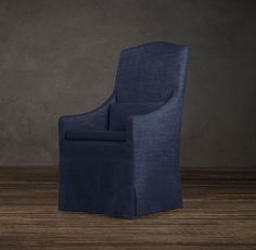 Slipcovered Camelback Dining Armchair   Fabric Arm & Side Chairs   Restoration Hardware