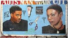 African barber sign