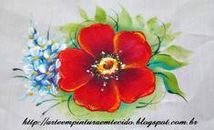 Pintura em Tecido ,Dicas, Materiais e Passo a Passo: Pintura em Tecido Flor do Campo