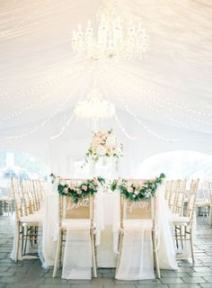 Love the magic lighting of this wedding reception. Via Charmed Events Group