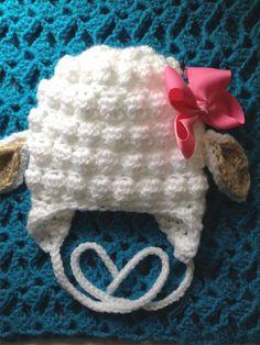 Baby lamb hat unisex baby hat white crochet by BloomingRoseCrochet, $14