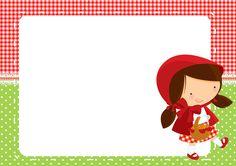 Convite, Cartao Chapeuzinho Vermelho