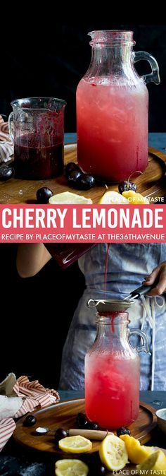 Cherry Lemonade Recipe - Delicious and natural drink. We love this recipe. Pin it now and make it later.