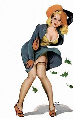 Pin up d'automne par Peter Driben : Les Pin up de nos jours!
