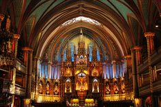 Notre-Dame Basilica, Montreal. Photo by Christa Lee Photography