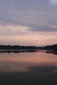 2014 佐鳴湖の初日の出 First sunrise Hamamatsu, Dawn, Sunrise, Celestial, City, Nature, Outdoor, Outdoors, Naturaleza