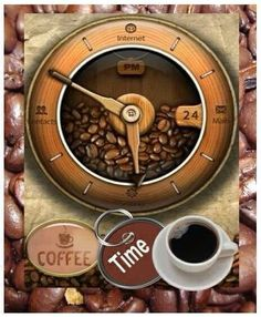 Coffee Time.....I have found 2 of the cutest clocks....<3 DL :)