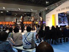 始まりました〜〜文化のファッションショー!