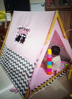 Kids Camping Tent, Kids Teepee Tent, Play Tents, Baby Tent, A Frame Tent, Toddler Bed, Kids Room, Room Decor, Cabin
